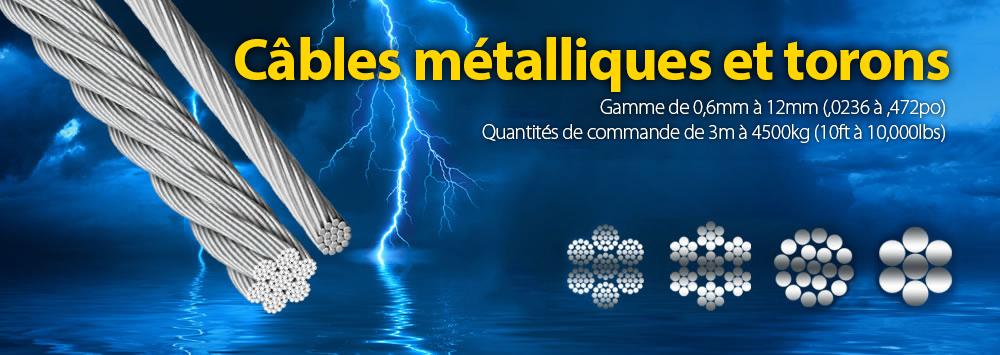 Câbles métalliques et torons
